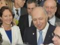 Mme Ségolène Royal - Ministre de l'Environnement et M. Laurent Fabius - Président du Conseil Constitutionnel